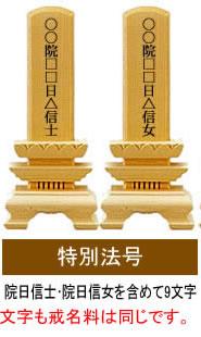 日蓮宗の特別法号中位(戒名)、男性女性